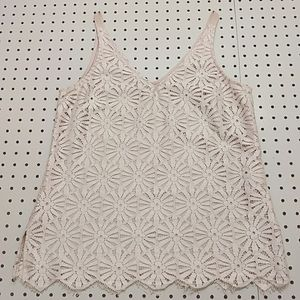 Trina Turk Lace Overlay Top, Size Small